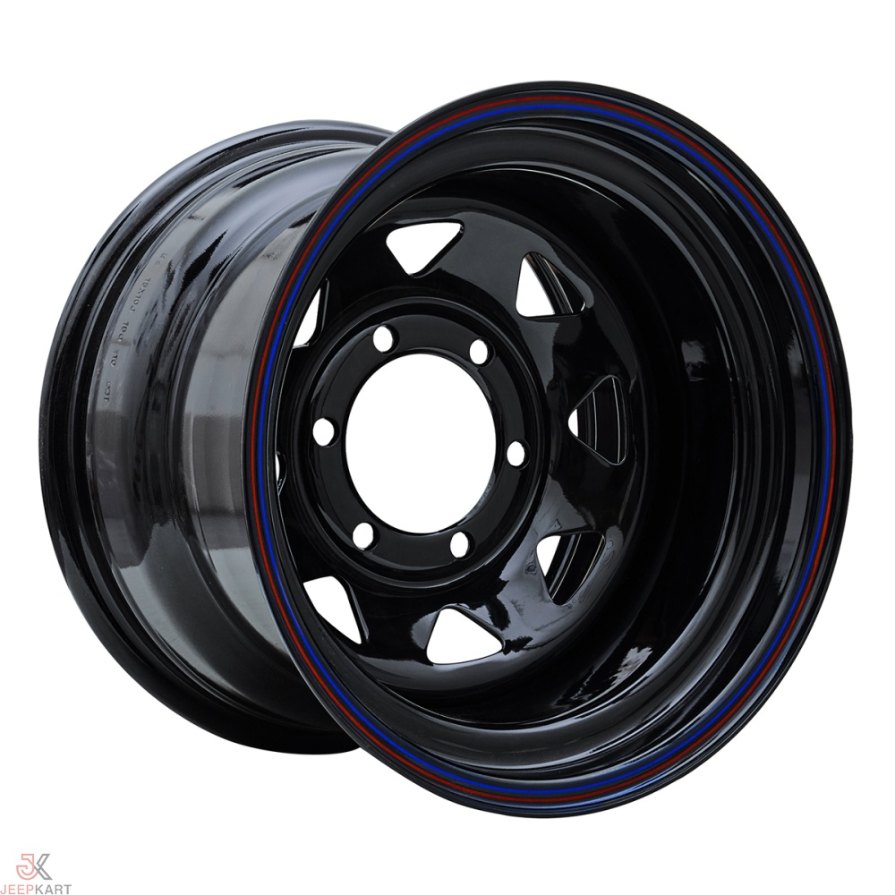 15x8 5x139 Black Steel Wheels For Gypsy/540/Thar DI