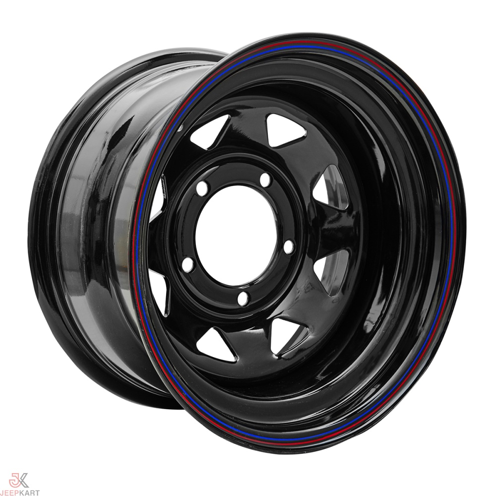 15x7 5x139 Black Steel Wheels For Gypsy/540/ Thar DI