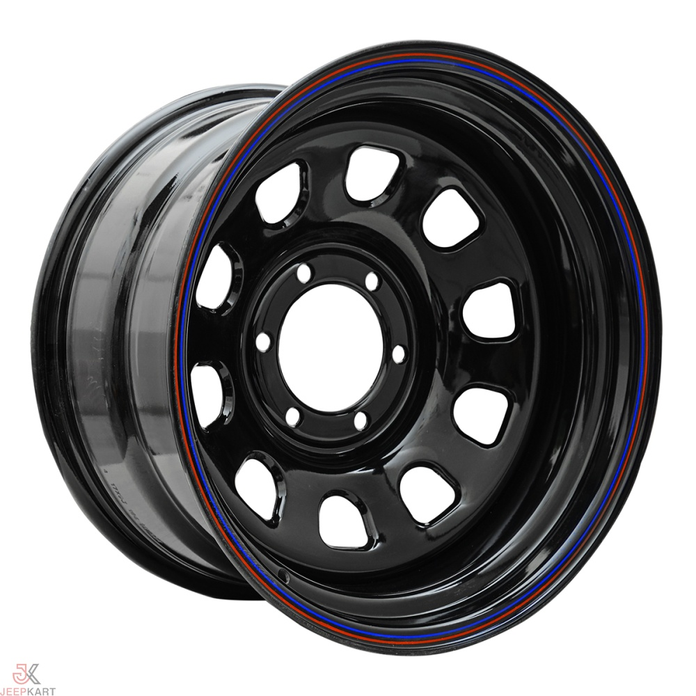 17x9 6x139 Black Steel Wheels for Vcross/Fortuner/Pajero (Set of 5)