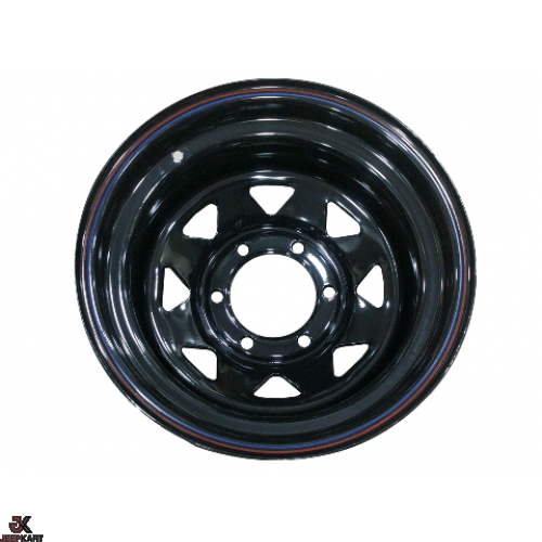16x8 6x139 Black Steel Wheels for Isuzu Dmax Vcross/ Pajero (Set of 5)