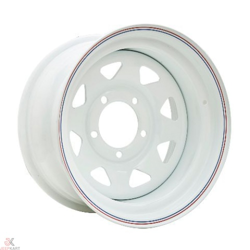 16x8 5x139 White Steel Wheels For Gypsy/540/Thar DI