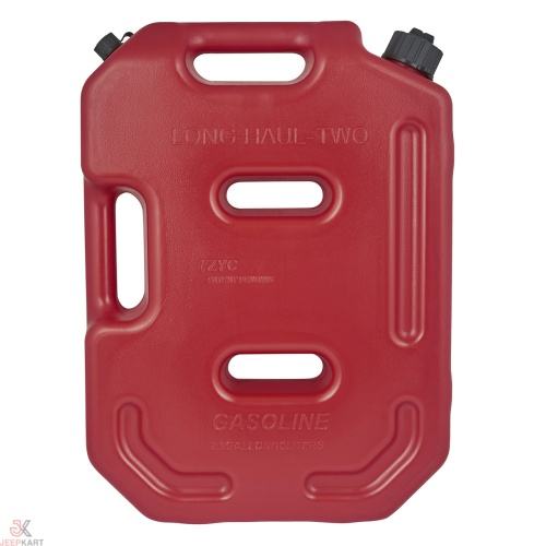 Fuelmate 10 Liter Plastic Jerrry Can, 13 Inch x 4 Inch x 18 Inch