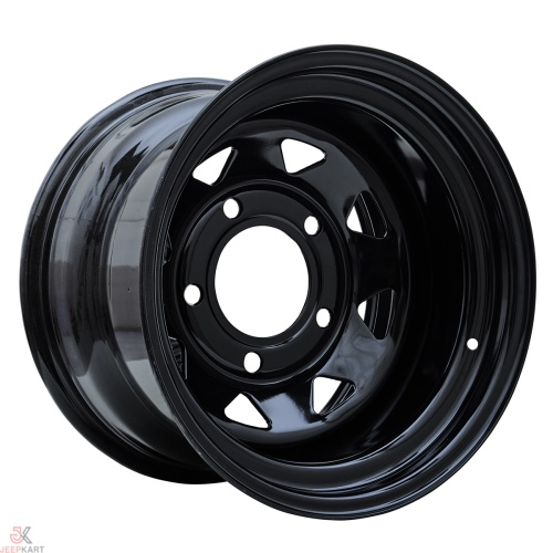 16x10 5x165 Black Steel Wheels for Land Rover Defender