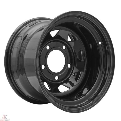 16x10 5x160 Black Steel Wheels For Bolero / Thar Crde / Scorpio