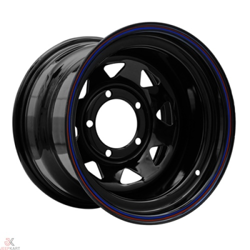 15x10 5x139 Black Steel Wheels for Gypsy/540/Thar DI