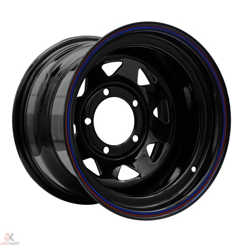 15x7 5x160 Black Steel Wheels For Bolero / Thar Crde / Scorpio