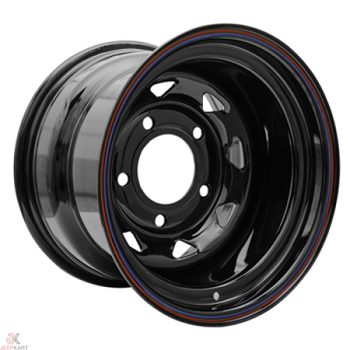 15x8 5x160 Black Steel Wheels For Bolero / Thar Crde / Scorpio