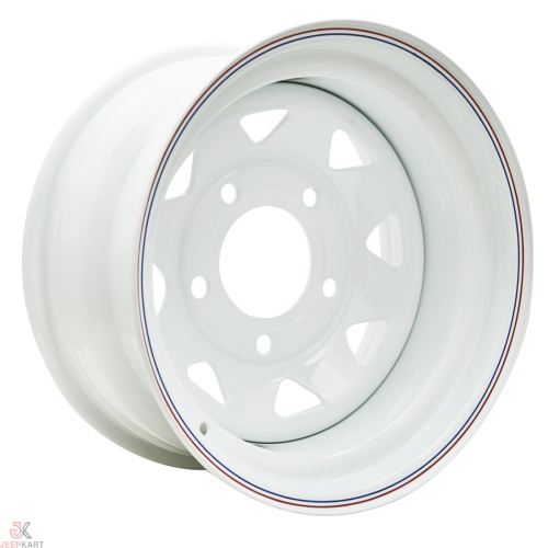 16x8 5x160 White Steel Wheels For Bolero / Thar Crde / Scorpio