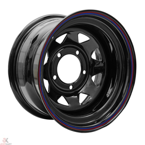 16x8 5x139 Black Steel Wheels For Gypsy/540/Thar DI