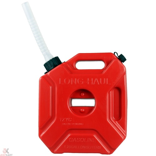 Fuelmate 3 Liter Red Plastic Jerry can with Integrated Spout, 9.8 Inch x 8.3 Inch x 4.7 Inch for Generators, Jeeps, Marine Activities, Boat and Other Vehicles