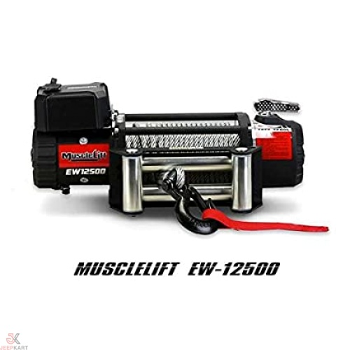 Musclelift EW-12500 6.6hp Winch WITH 28.5 METERS STEEL ROPE