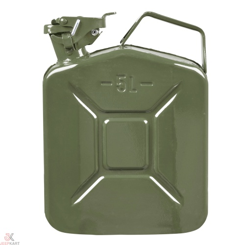 Fuelmate 5 Liter Green Metal Jerry Can, 10 Inch x 5 Inch x 12 Inch