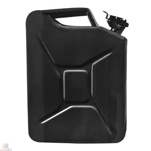 Fuelmate 20 Liter Black Metal Jerry Can, 14 Inch x 6 Inch x 18 Inch for Generators, Jeeps and Other Vehicles